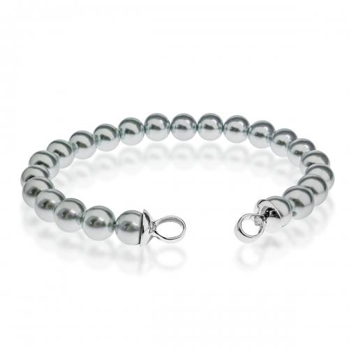 Zinzi Silver Pearl Beaded 19cm Bracelet ZIA401G