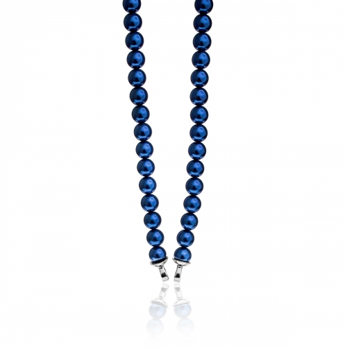 Zinzi Blue Pearl Beaded 45cm Necklace ZIC401BL