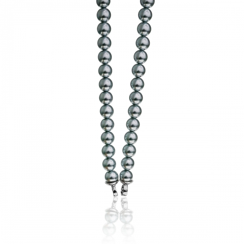 Zinzi Grey Pearl Beaded 45cm Necklace