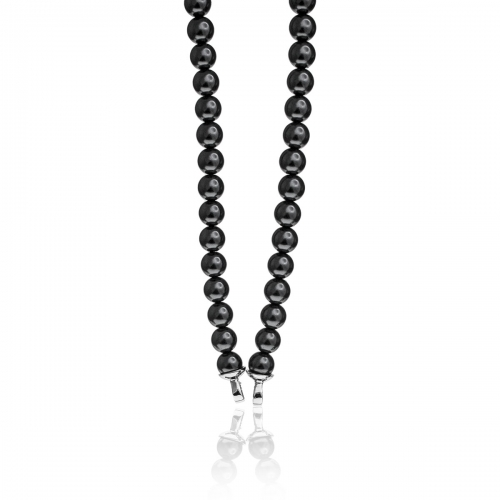 Zinzi Black Pearl Beaded 45cm Necklace