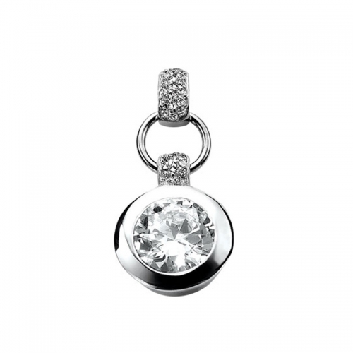 Zinzi Silver and White Cubic Zirconia Pendant