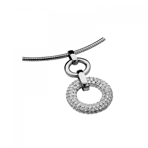 Zinzi Silver CZ Necklace Pendant