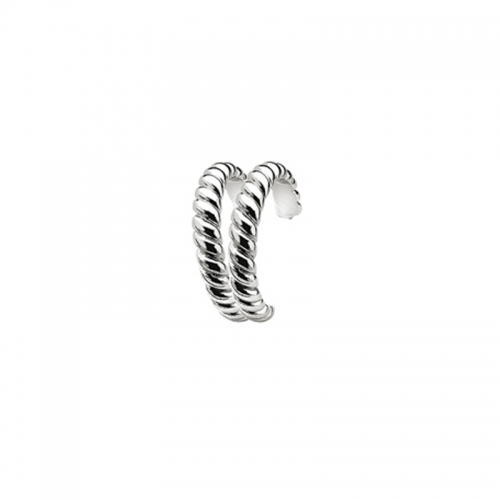 Zinzi Sterling Silver 19mm Twisted Earrings