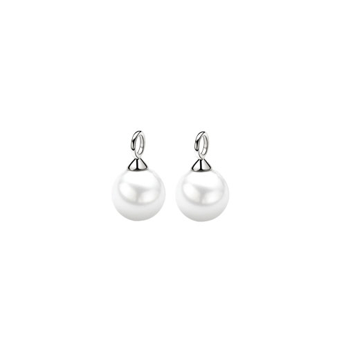 Zinzi White Pearl Earring Pendants