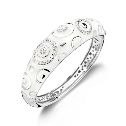 Belle Etoile Galaxy White Bangle