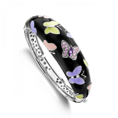 Belle Etoile Papillion Black Bangle