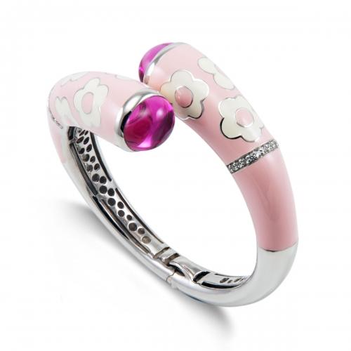 Belle Etoile Fleur Twist Pink Bangle