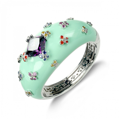 Belle Etoile Farfalla Allegra Green Bangle
