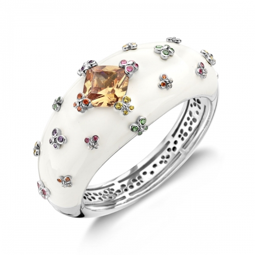 Belle Etoile Farfalla Allegra White Bangle