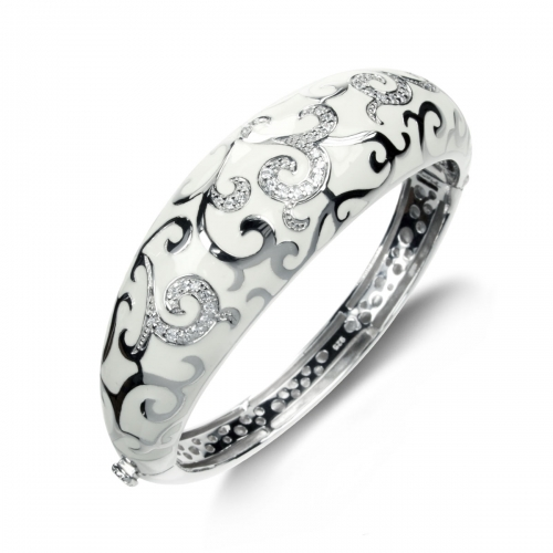 Belle Etoile Royale Silver Bangle