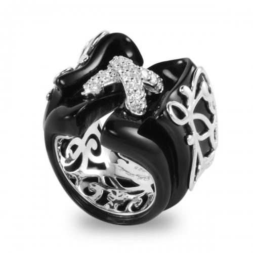 Belle Etoile Corset Black Ring