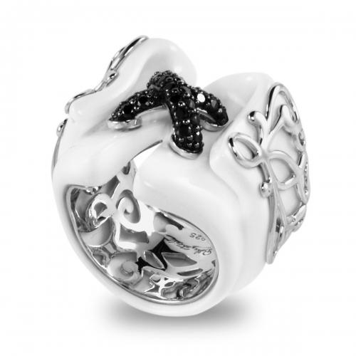 Belle Etoile Corset White Ring