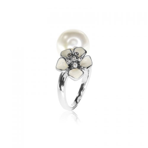 Belle Etoile Snowdrop Silver Ring