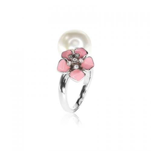 Belle Etoile Snowdrop Pink Ring