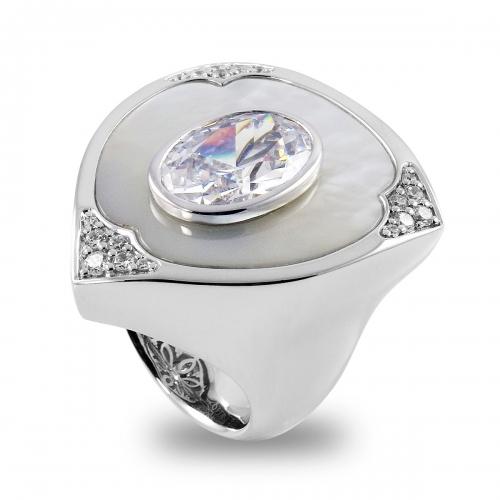 Belle Etoile Aegis Silver Ring