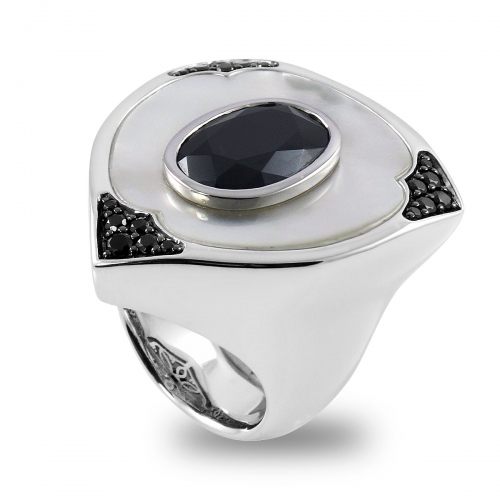 Belle Etoile Aegis Black Ring