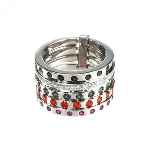 Belle Etoile Cascade Silver Ring