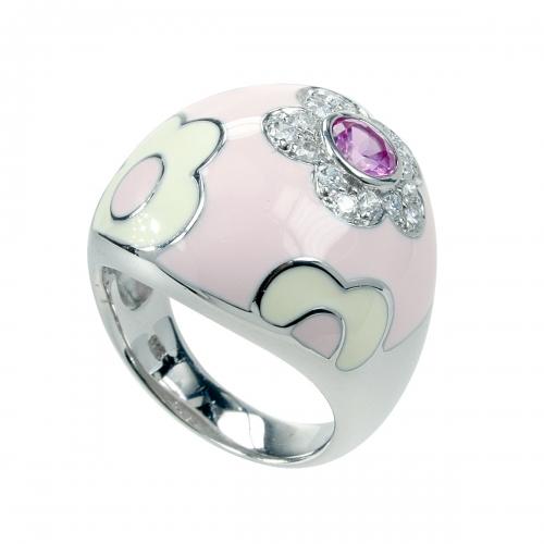 Belle Etoile Fleur Pink Ring