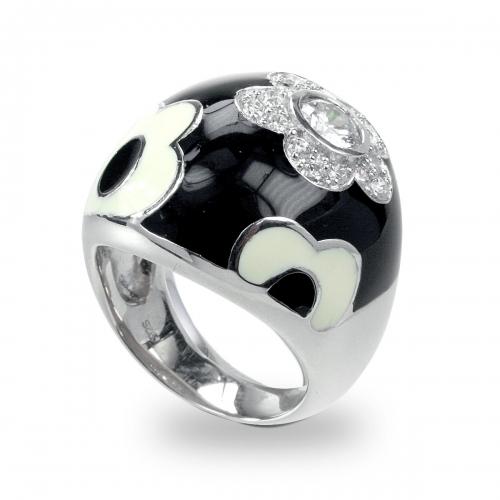 Belle Etoile Fleur Black Ring