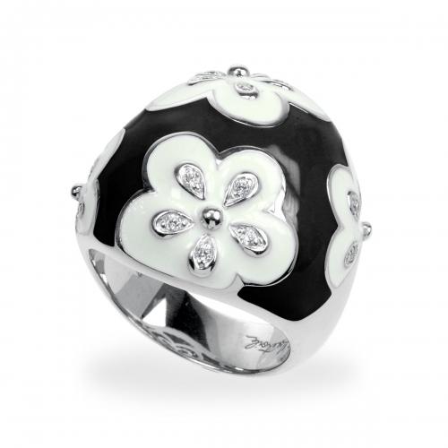 Belle Etoile Jasmine Black Ring