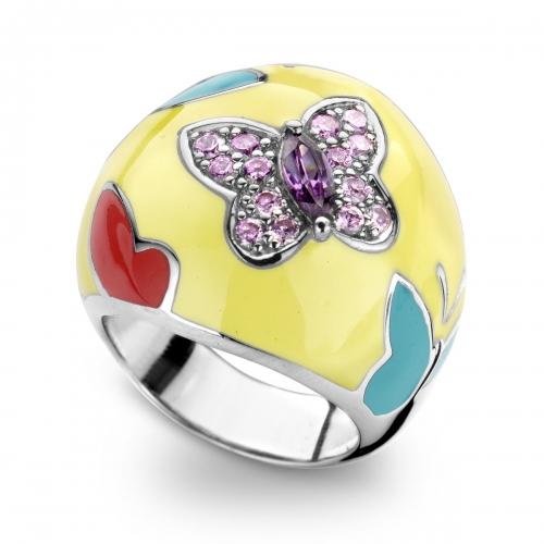 Belle Etoile Papillion Yellow Ring