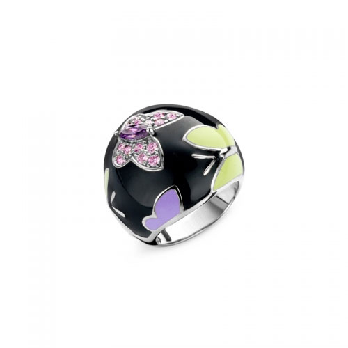 Belle Etoile Papillion Black Ring