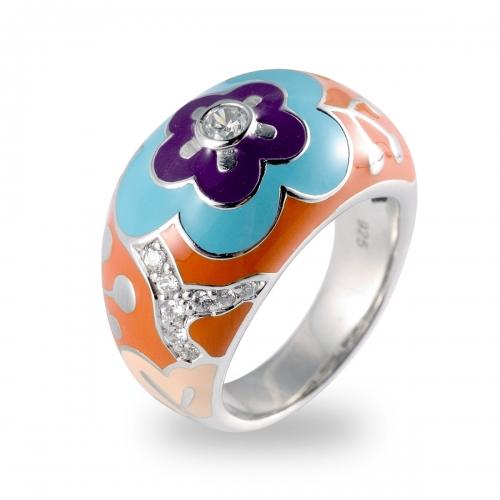 Belle Etoile Cherry Blossom Orange Ring