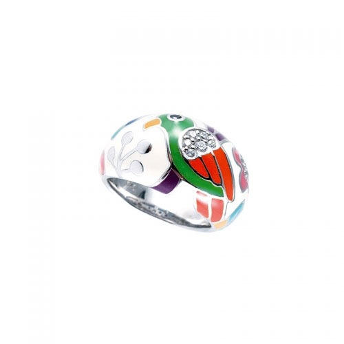 Belle Etoile Perroquet White Ring