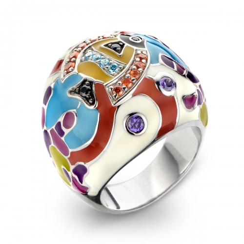 Belle Etoile Under the Sea White Ring
