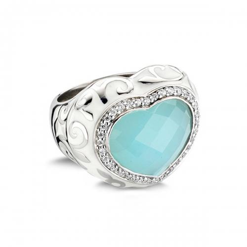 Belle Etoile Royale Heart Blue Ring