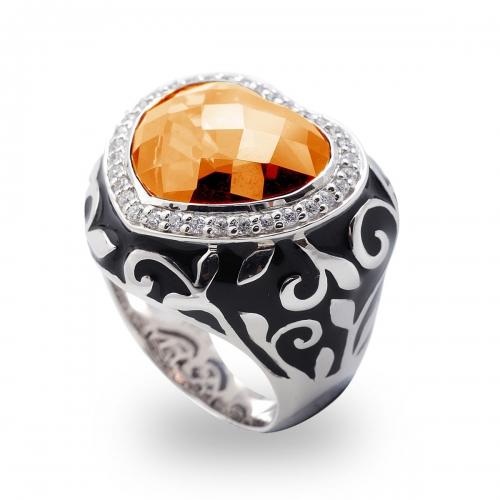 Belle Etoile Royale Heart Champagne Ring