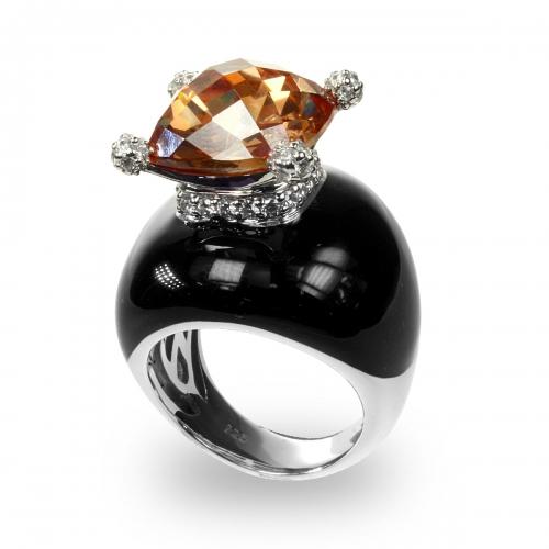 Belle Etoile Corona Black Ring