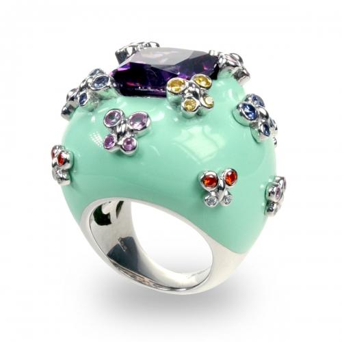Belle Etoile Farfalla Allegra Green Ring