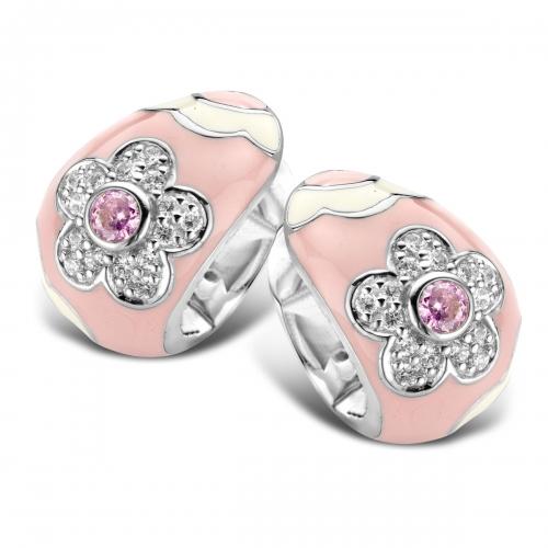 Belle Etoile Fleur Pink Earrings