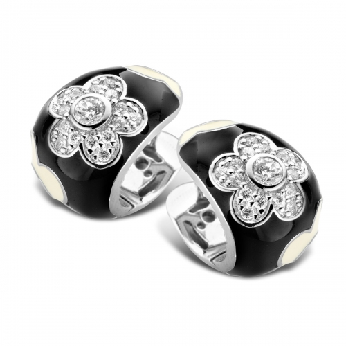 Belle Etoile Fleur Black Earrings
