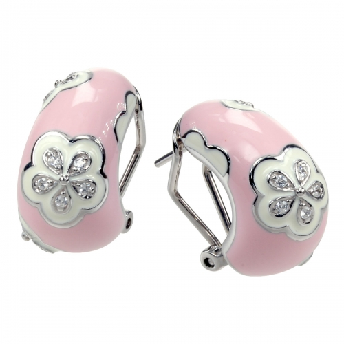 Belle Etoile Jasmine Pink Earrings