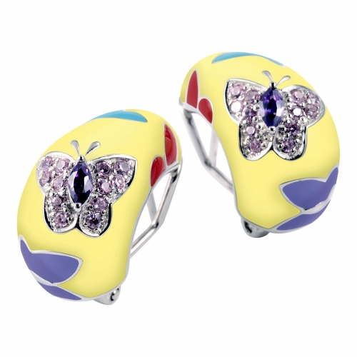 Belle Etoile Papillion Yellow Earrings