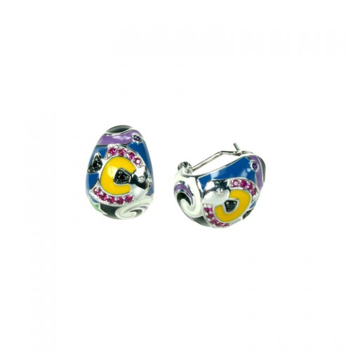 Belle Etoile Under the Sea White Earrings