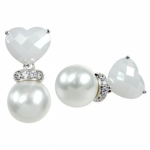Belle Etoile Opulence White Earrings