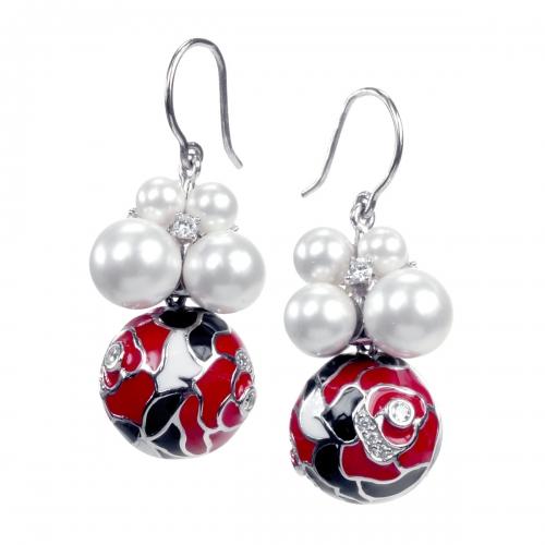 Belle Etoile Botanique Red Earrings