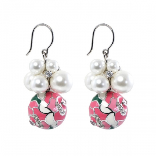 Belle Etoile Botanique Pink Earrings