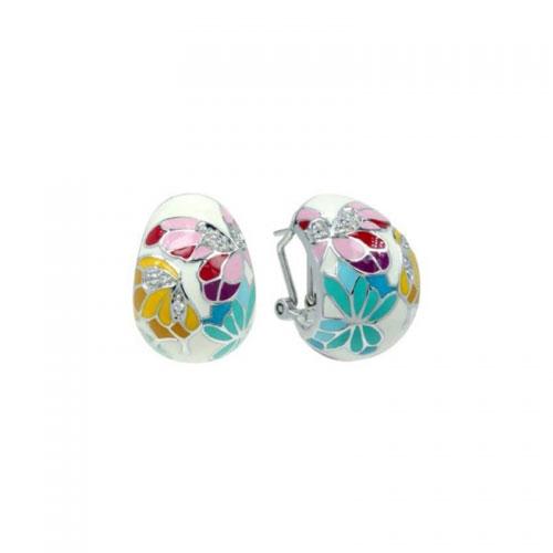 Belle Etoile Butterfly Kisses White Earrings