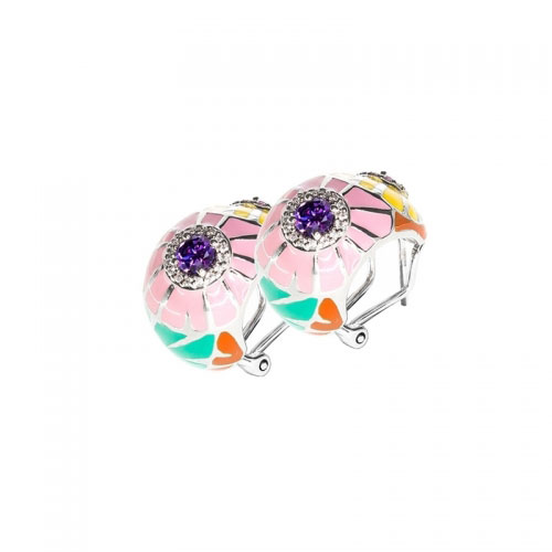 Belle Etoile Dandelion Pink Earrings