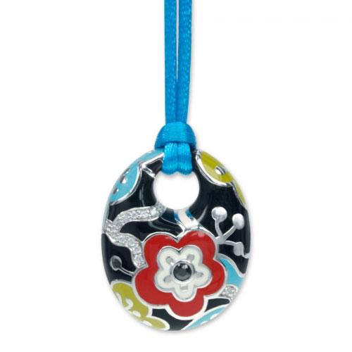 Belle Etoile Cherry Blossom Black Pendant