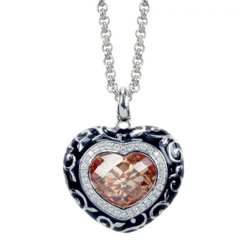 Belle Etoile Royale Heart Champagne Pendant