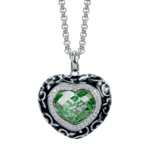 Belle Etoile Royale Heart Green Pendant