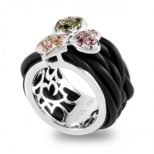Belle Etoile Intrecci Black Ring