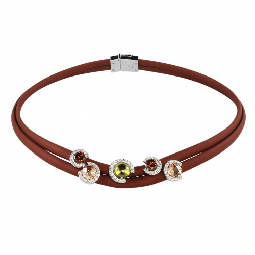 Belle Etoile Element Brown Necklace