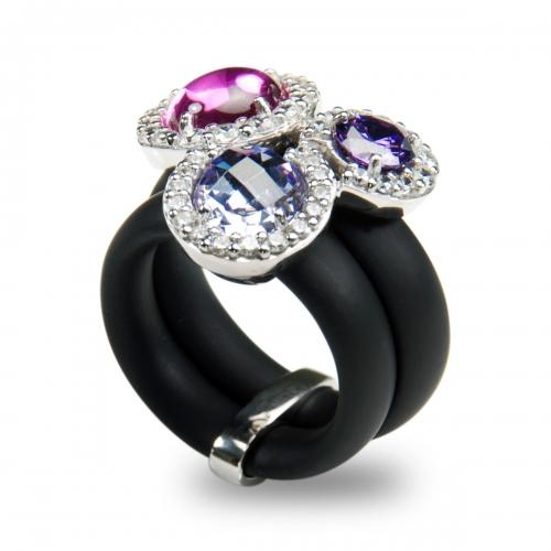 Belle Etoile Element Black Ring
