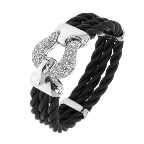 Belle Etoile Lasso Black Bangle